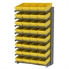 Akro-Mils 18 1-Sided Pick Rack, 32 AkroDrawers, Gray/Yellow