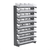 Akro-Mils 12 1-Sided Pick Rack, 32 AkroDrawers, Gray/Clear