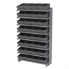 12 1-Sided Pick Rack, 32 AkroDrawers, Gray