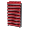 Akro-Mils 12 1-Sided Pick Rack, 32 AkroDrawers, Gray/Red