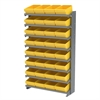 12 1-Sided Pick Rack, 32 AkroDrawers, Gray/Yellow