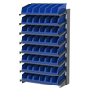 18 1-Sided Pick Rack, 10 System Bins, Gray/Blue