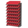 Akro-Mils 18 1-Sided Pick Rack, 10 System Bins, Gray/Red