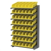 18 1-Sided Pick Rack, 10 System Bins, Gray/Yellow