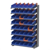 18 1-Sided Pick Rack, 48 Indicator Bins, Gray/Blue