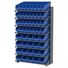 18 1-Sided Pick Rack, 52 ShelfMax Bins, Gray/Blue