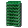 18 1-Sided Pick Rack, 52 ShelfMax Bins, Gray/Green