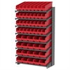 Akro-Mils 18 1-Sided Pick Rack, 52 ShelfMax Bins, Gray/Red