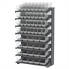 Akro-Mils 18 1-Sided Pick Rack, 52 ShelfMax Bins, Gray/Clear