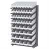 Akro-Mils 18 1-Sided Pick Rack, 52 ShelfMax Bins, Gray/White