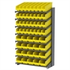 Akro-Mils 18 1-Sided Pick Rack, 52 ShelfMax Bins, Gray/Yellow