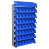 12 1-Sided Pick Rack, 10 System Bins, Gray/Blue