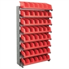 Akro-Mils 12 1-Sided Pick Rack, 10 System Bins, Gray/Red