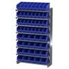 Akro-Mils 12 1-Sided Pick Rack, 52 ShelfMax, Gray/Blue