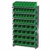 Akro-Mils 12 1-SidedPick Rack, 52 ShelfMax, Gray/Green