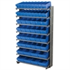 Akro-Mils 12 1-SidedPick Rack, 50 AkroDrawers, Gray/Blue