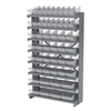 12 1-SidedPick Rack, 50 AkroDrawers, Gray/Clear