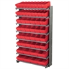 12 1-SidedPick Rack, 50 AkroDrawers, Gray/Red