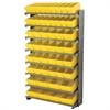 Akro-Mils 12 1-SidedPick Rack, 50 AkroDrawers, Gray/Yellow