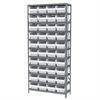 Akro-Mils Steel Shelving Kit, 12x36x79, 40 Bins, Gray/White