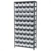 Akro-Mils Steel Shelving Kit, 12x36x79, 50 Bins, Gray/White