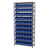Akro-Mils Steel Shelving Kit, 12x36x79, 10 Bins, Gray/Blue