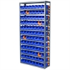 Steel Shelving Kit, 96 Bins/Orange, Gray/Blue/Orange