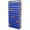 Akro-Mils Steel Shelving Kit, 12x36x79, 60 Bins, Gray/Blue/Orange