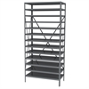 Steel Shelving Kit, 18x36x79, No Bins, Gray