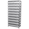 Akro-Mils Steel Shelving Kit, 18x36x79, 80 Bins, Gray/White