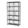 Akro-Mils Steel Shelving Kit, 18x42x79, 12 Bins, Gray/Clear