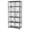 Akro-Mils Steel Shelving Kit, 18x36x79, 10 Bins, Gray/Clear