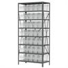 Akro-Mils Steel Shelving Kit, 18x36x79, 40 Bins, Gray/Clear
