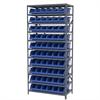 Akro-Mils Steel Shelving Kit, 18x36x79, 10 Bins, Gray/Blue