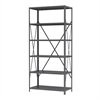 Steel Shelving 18D, 6 Shelves No Bins, Gray