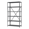 Steel Shelving Kit, 18x42x79, No Bins, Gray