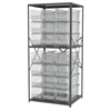 Akro-Mils Steel Shelving Kit, 30x36x79, 24 Bins, Gray/Clear