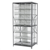 Akro-Mils Steel Shelving Kit, 30x36x79, 18 Bins, Gray/Clear
