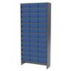Akro-Mils Steel Shelving Kit, 36 AkroDrawers, Gray/Blue