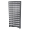 Akro-Mils Steel Shelving Kit, 36 AkroDrawers, Gray/Clear