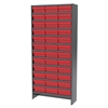 Akro-Mils Steel Shelving Kit, 36 AkroDrawers, Gray/Red