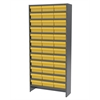 Akro-Mils Steel Shelving Kit, 36 AkroDrawers, Gray/Yellow