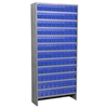 Akro-Mils Steel Shelving Kit, 108 AkroDrawers, Gray/Blue