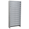 Steel Shelving Kit, 108 AkroDrawers, Gray/Clear