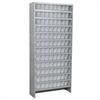 Akro-Mils Steel Shelving Kit, 108 AkroDrawers, Gray/Clear