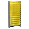 Steel Shelving Kit, 108 AkroDrawers, Gray/Yellow