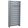 Akro-Mils Steel Shelving Kit, 72 AkroDrawers, Gray/Clear