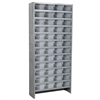 Akro-Mils Steel Shelving Kit, 72 AkroDrawers, Gray/Clear