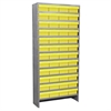Steel Shelving Kit, 72 AkroDrawers, Gray/Yellow