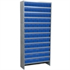 Steel Shelving Kit, 78 AkroDrawers, Gray/Blue